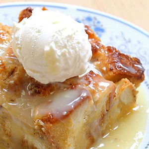 White Chocolate Salted Caramel Challah Bread Pudding