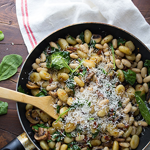 Pan Fried Gnocchi with Sundried Tomatoes and White Beans