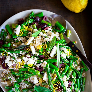 Spring Asparagus Salad with Israeli Couscous